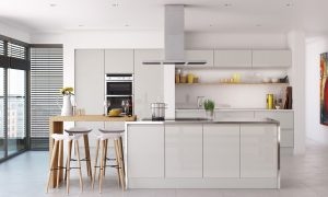 Trend Handleless Grey Gloss