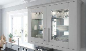 Virginia Glazed Mirrored Back Wall Unit