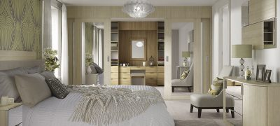 Moda Sliding Wardrobes - Light Pine & Mirrored