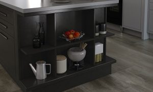 Modern Classic Front Peninsula Shelf Unit