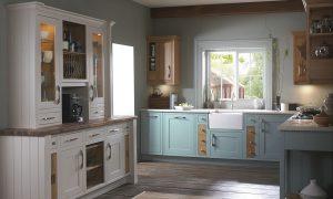 Shaker - Chalk White, Cobalt Blue & Natural Oak