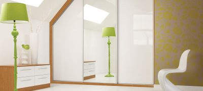 1 Panel Sliding Wardrobe - White & Mirrored