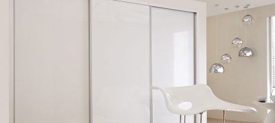 1 Panel Sliding Wardrobe - White